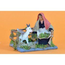 Donna che nutre capra
