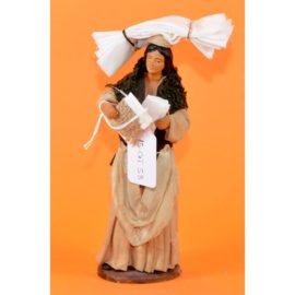 Donna con fazzoletti