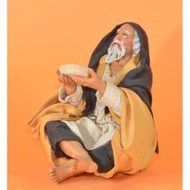 Bivacco uomo con piatto